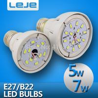 10pcs/lot  5W 7w LED Bulb 110v 220v 240v e27 b22 led lamp  cold/warm white smd 5730 led bubble ball bulb free shipping