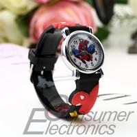 Wholesale Hot Fashion watch child cartoon watches Spider man Sport Watches lovely Jelly quartz watch kids hour relogio relojes