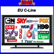 Cccam Cline per l'UE cccam ricevitore w/1 anno di abbonamento supporto cielo germania, cielo uk, cielo si, canalsat, biss tv, hotbird(China (Mainland))