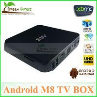 Original Android M8 TV Box Amlogic S802  Android 4.4 Kikat OS Octo-core Mali-450MP GPU Android TV Box 2GB DDR3 8GB NAND FLASH
