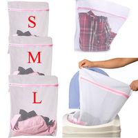S/M/L Clothes Washing Machine Laundry Bra Aid Lingerie Mesh Net Wash Bag Pouch Basket 1PCS