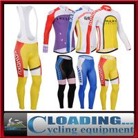 2015 new Yowamushi men winter clothing cycling clothes fleece long jersey for mtb road bike racing thermal warm bib pants jacket