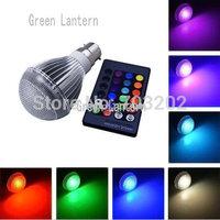 10W B22 RGB Led Bulbs Lamps 220V 110V Lamparas Home Light Residential Lighting Remote Controller 85-265V