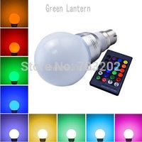 Colorful 3W RGB B22 LED Bulb Light IR Remote Control