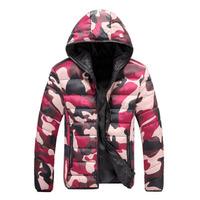 Free shipping Warm Winter Men's Camouflage Double Wear Coats Fashion Casual Down Men Jackets Slim Fit Men's Hooded Coat #NL66