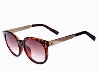 6 Colors Lady's Fashion Anti UV 400 Brand Round Sunglasses 2014 Women's Sunglasses 8060