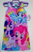 cartoon my little pony princess girls meninas vestir summer 2014 for 4-12 clothes children baby boutique clothing