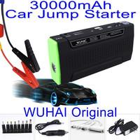 High quality WUHAI 30000mAh Car Jump Starter multi-functional AUTO emergency start power bank