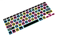 """50pcs Big Character Color Rainbow Keyboard Cover Protector for Macbook 13"""" Unibody Pro 13"""" 15"""" 17""""  Pro 15 with Retina Display"""