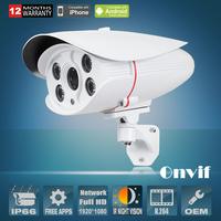 2.0MP 1920X1080P Full HD Day/Night Array IR Security Outdoor Network IP Camera Onvif H.264 Video Surveillance Camera