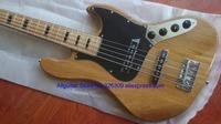 NEW 5 Strings Bass natural Wood JAZZ BASS active pickups China ebest BASS