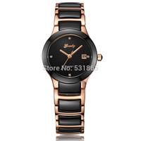 Grady new fashion high quality 100% genuine ceramic geneva watches for women free shipping