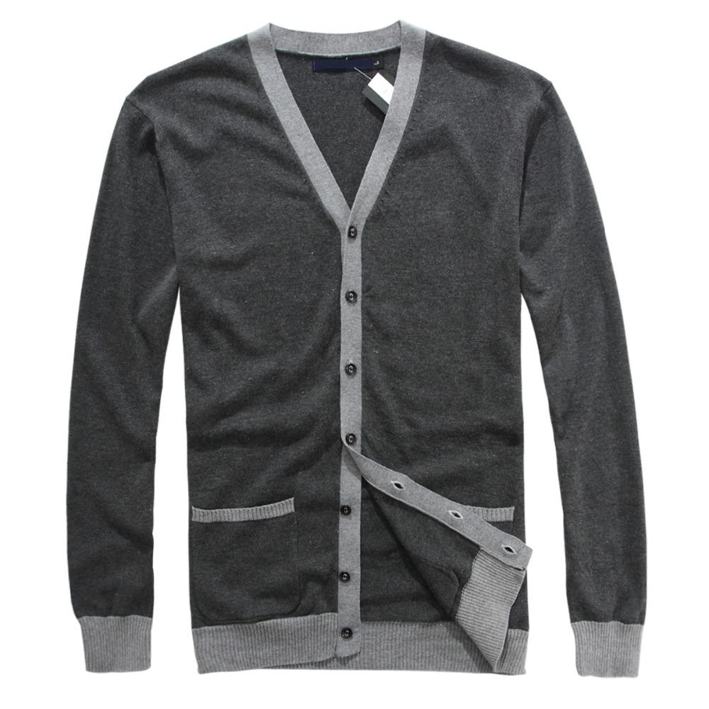 2014 New sweaters man cardigans Brand knit sweater men blusas masculinas casual shirts big size v-neck 100% cotton fashion soild(China (Mainland))