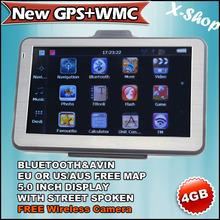 X-SHOP New GPS+WMC Gps navigator 5 inch Bluetooth+128MB RAM+4GB MAP+Wireless camera,MTK,Vehicle GPS,ROM 4G,Touch Screen, Mp3/Mp4