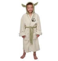 Star Wars Jedi Master Yoda Cosplay Costume Coral fleece Pajamas adults bathrobe robe for children clothing