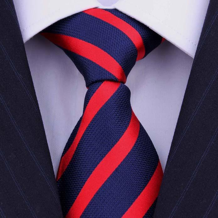 Brand Silk Tie Ties Men Corbatas Striped Blue Red Collar Neck Tie Wedding Dress Men s