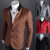 Free shipping 2014 Fashion Casual Jackets for MEN Slim Fit Blazer Men Single Button Men Blazers Bright Colorful Men Suit #NL88