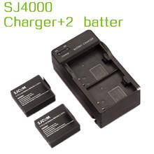 sj4000 accessories original SJCAM charger + 2 battery cheap price, free shipping, sj 4000,sj400,sj4000w(China (Mainland))