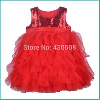 Sequins princess dress lace bitter fleabane gauze dress of the girls show flower dress