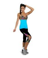 Yomsong Women Leggings High Waist Capri Leggings Patch Work Workout Fitness Women Legging Pant Gym Wear M/L Free Shipping
