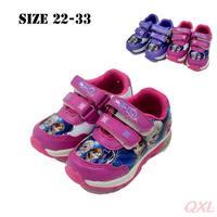 22-27 Frozen Elsa Shoes For Kids  Girls  Zapatos Shoes Children's Sneakers Light Velcro Children Shoe Frozen Sapato Frozen Girl