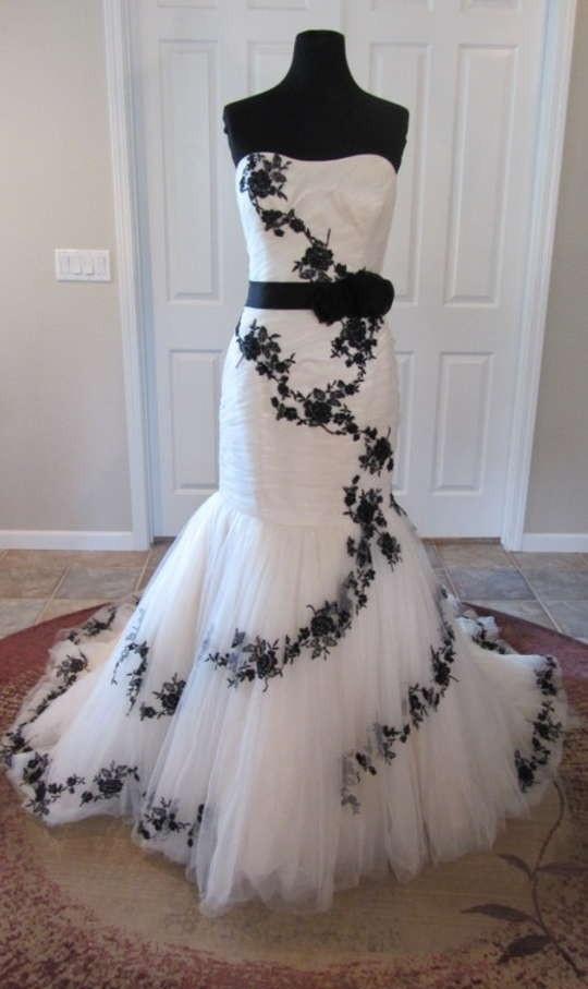 Black Rose Wedding Dresses : Black lace length rose wedding dresses for bride fast delivery