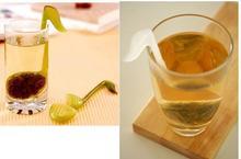 2015  Free Ship 1pcs New  Novelty Musical Note Shape Plastic Tea Strainer Coffee & Tea Sets