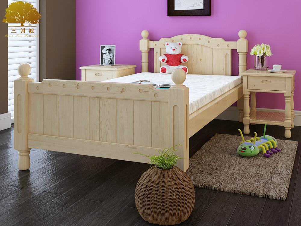 Verbeterde kinderbed grenen houten bed met rails 3 10 jaar oude kinderen slaapkamer bed k19 - Kleur kinderen slaapkamer ...