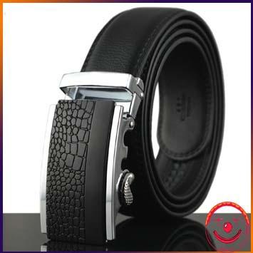 2015 men's belt genuine leather belts business black buckle business belts for men(China (Mainland))
