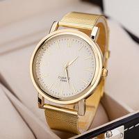 New Famous Women's Watches Fashion Unisex Full Steel Gold Watch Luxury Quartz Analog Wristwatch Relogio Masculino Free Shipping