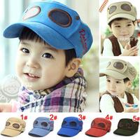 Free shipping 1piece Baby Baseball Caps, sun-shading hat pilots Cap,  child male female cap