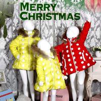 2014 new High quality Printed Polka Dot Kids Down Children's down jacket children's down jacket