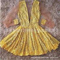 2015 women casual lace bandage dress vestidos vestido de festa roupas femininas evening party dresses 5170