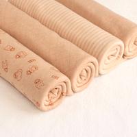 Natural organic cotton 2 pieces 50*150cm double knit fabric baby class cotton fabric cotton baby