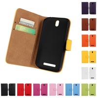 New Arrival Genuine Leather Case for HTC Desire SV T326e Wallet Book Style With Credit Card Slots and Stand Fuction Free ship