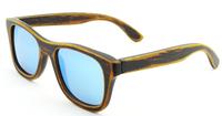 ICE BULE coating mirror 2014 polarized sunglasses wooden bamboo women men handmade nature bamboo  oculos  factory directly z6016