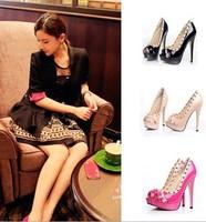 women pumps high heels sexy fashion party club pumps shoes beauty shows rivets pumps high-heeled shoes jjm288-8