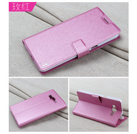 High Quality Silk PU Flip Leather Cover for Samsung Galaxy Grand 2 G7106 G7102,Flower Show Mobile Phone Case With Card holder