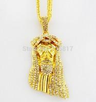 Brand new Hot sale Medusa Hip Hop Gold Plated Men Jewelry Pendant Statement Necklace Chain Necklaces & Pendants for Women