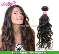 "Peruvian Natural Weave Virgin Hair Grade 6A Human Hair Extention 3pcs/lot  (12""-26"") human hair  water wave product"