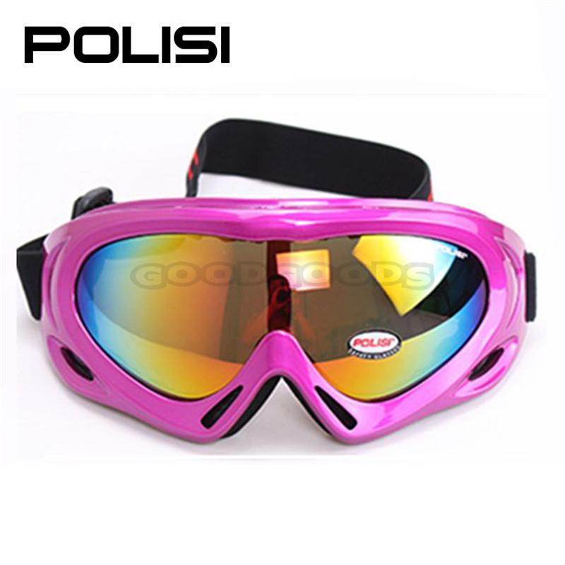 2015 NEW POLISI Children Skiing Snow Sled Goggles Optical 100% UV400 Kids Ski Snowboard Glasses Eyewear Free Shipping #301(China (Mainland))