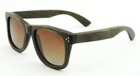 bamboo black ice bule lense real wood bambu sunglasses rivets women men 2014 new fashion brand designer  z6050
