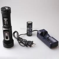 Waterproof Uniquefire 1xCREE XML2 3Modes 1200LM super bright LED Flashlight Suit black