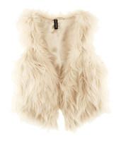 Hot Sale 2014 autumn and winter fur vest fastener satin liner Fur Coat XS-2XL 2Colors