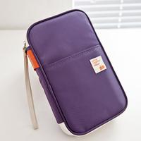 Super Large Good Quality Card Holder Candy Color Passport Holder Wallet Ticket Receipt Pocket Passport Cover For Men Women