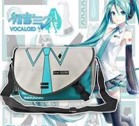 Hot Sale Hatsune Miku Tie Uniforms Students Style Messenger Bag Fashion Anime Cos Shoulder Bag
