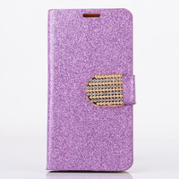 For Samsung Galaxy S5 mini Luxury Wallet diamond glitter design Magnetic Holster Flip PU Leather phone Case Cover D1392-A