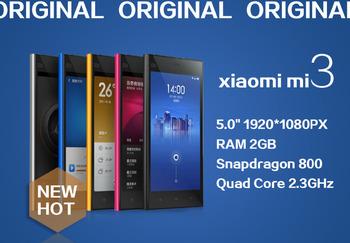 Оригинальный Xiaomi Mi3 M3 м . и . 3 сотовые телефоны андроид умный мобильный телефон четырехъядерный процессор Qualcomm львиный зев 3 г двойной камеры 5 дюймов 13MP GPS