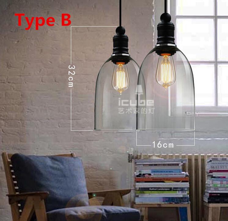Online kopen wholesale glazen lampenkappen uit china glazen lampenkappen groothandel - Licht industriele vintage ...