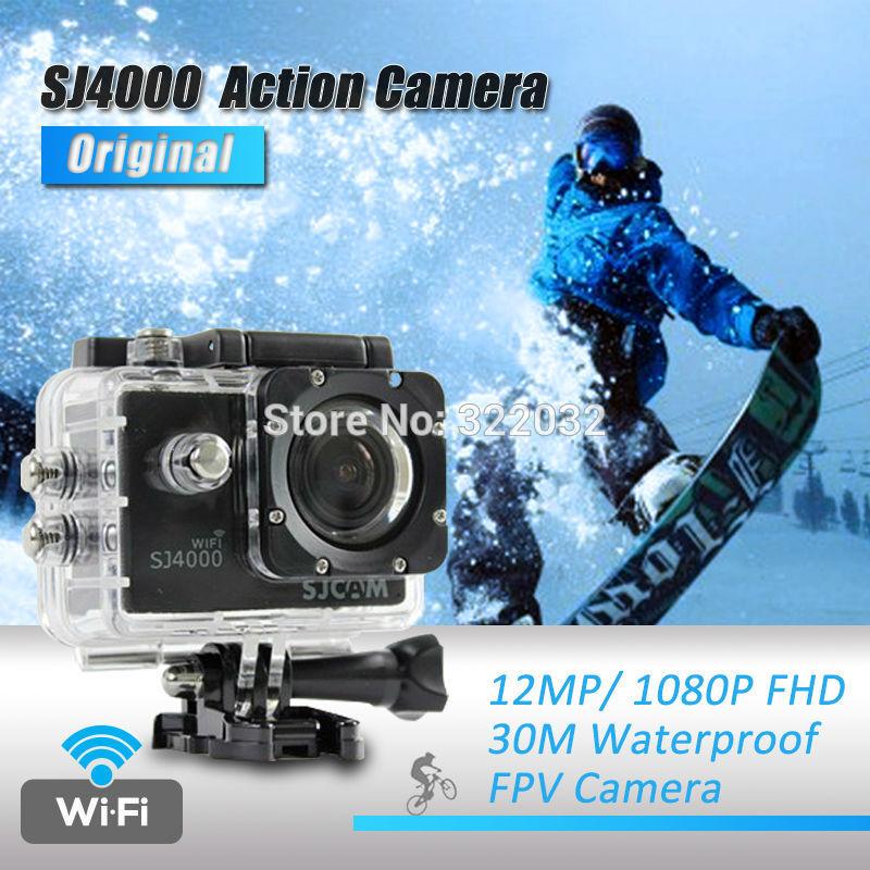 Sjcam sj4000 wifi, sport action 1080p caméra full hd caméscopes gopro hero 3 étanche. go pro hero3 style. sj 4000 fpv caméra